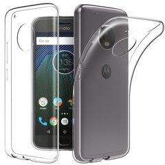 Moto G5S+ Back Case Soft - Transparent