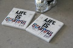 """Life Is Beautiful"" (Set of 2)"