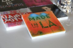 """""""Made In LA: Sunset"""" (Set of 4 Multi-Colored Coasters)"""