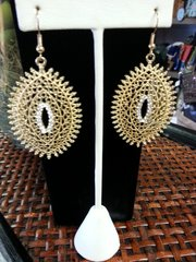 Jewelry Earrings Gold Oval Teardrops