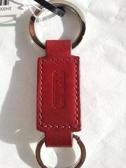 Coach Signature Key Ring - Leather Double End Valet Key Ring #IR7273