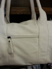 Handbag White Studded Side Hobo