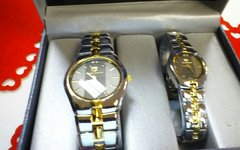 "His & Hers Watch Set ""Silver & Gold"""