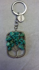 Tree of Life Magnesite Key Chain