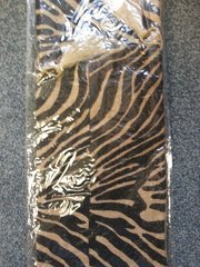 Wine Bag Burlap Zebra