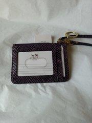 Coach Skinny Purple I'D Case #F50067