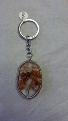 Tree of Life Carnelian Keychain