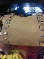 Handbag - Light Khaki Stud