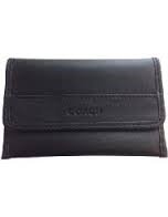 Coach Men's Leather Business Card Case - Black #F62556