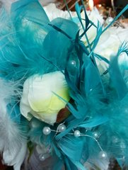 Wedding Bouquet Feather Peony
