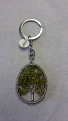 Tree of Life Peridot Keychain