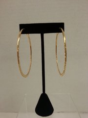 Jewelry Earrings Gold Hoop with Printed Accent