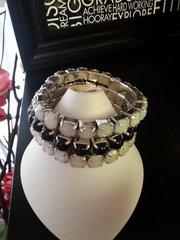Jewelry Bracelet Black and White