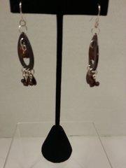 Jewelry Earrings Oval Brown Stone