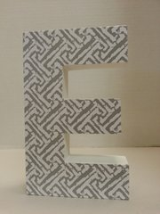 "Wall Hanging Wood Letter ""E"""