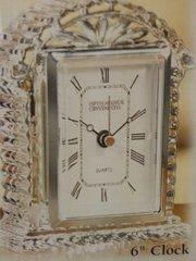 "Wedding Crystal 6"" Clock"