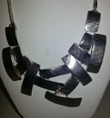Jewelry Necklace Geo Block Silver