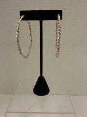 Jewelry Earrings Silver Hoop Tight Twist