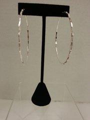 Jewelry Earrings Silver Hoop Hammered