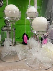 Wedding Centerpiece Candle Set 2pc