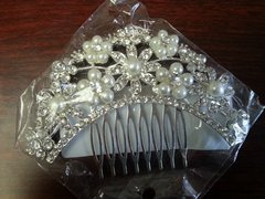 Wedding Hair Comb Sunflower with Pearls