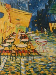 "Oil Painting ""The Cafe Terrace at Night"""