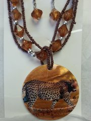 Jewelry Set Caribbean Shell Collection Tiger