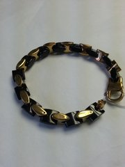 Bracelet Black and Gold Stainless Steel