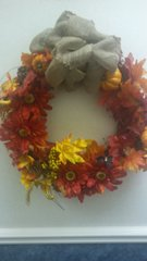Holiday Wreath Fall Pumpkins