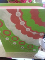 Decorative Boxes Lime and Coral