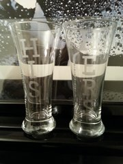 Wedding His and Hers Beer Pilsner Glasses