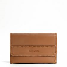 Coach Men's Leather Business Card Case-Tan #F62556