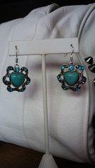 Jewelry Turquoise Heart Earrings