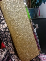 Handbag - Gold Sparkle Clutch