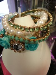 Jewelry Bracelet Tiffany Blue and Pearl