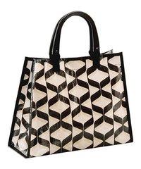 Recycled Plastic Handbag - Blue Q - Ribbon