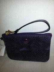 Coach Signature Wristlet-Purple #F50162