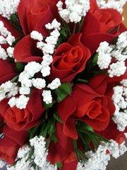 Wedding Bouquet Roses-Silk
