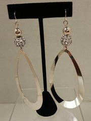 Jewelry Earrings Extra Long Silver Drop