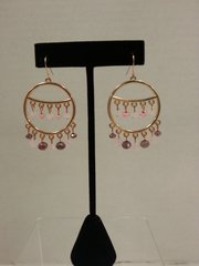 Jewelry Earrings Circle with Pink accents
