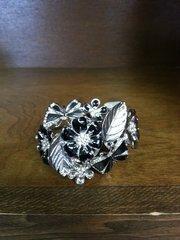 Jewelry Bracelet Cuff Black and Silver