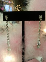 Wedding Earrings Rhinestone Drop 2""