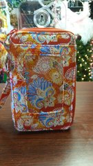 Quilted Wristlet Red Paisley