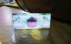Fluff Metal Vanity Case with Mirror-Cupcake