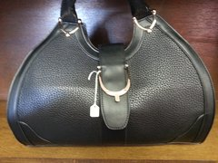 Handbag Barrel Black Large