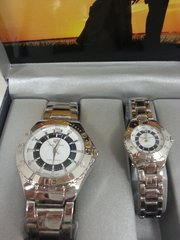 "His & Hers Watch Set ""Silver Navy White"""