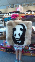 Fur Skin Alpaca Pillow Sham Panda Design
