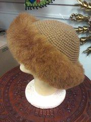 Baby Alpaca Hand knit Hat Beige