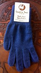 Adult Size, Baby Alpaca Gloves deep dark purple