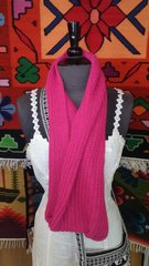 Hand Knit Infinity Scarf, Pink